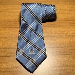 Tommy Hilfiger 100% Silk Tie Blue Crest Logo